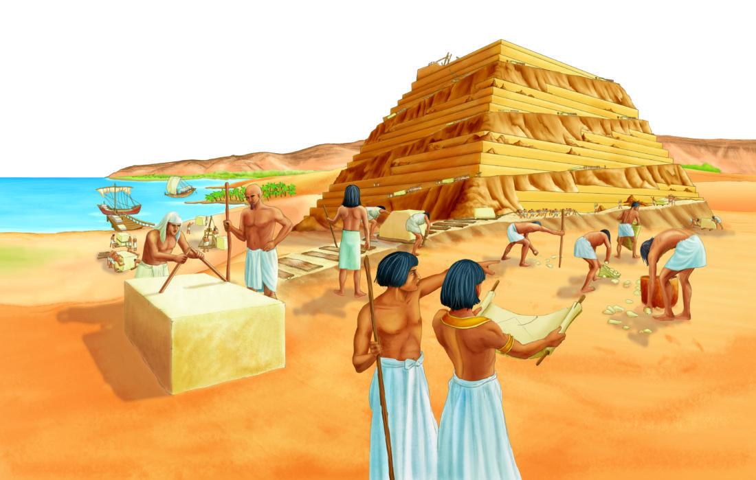 Египтяне строят пирамиды картинки